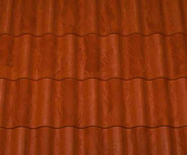 Bob Jahn's Offering Residential Roofing Material: Brava Composite - Spanish Barrel Vault Tile in French Clay