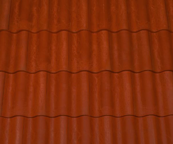 Bob Jahn's Offering Residential Roofing Material: Brava Composite - Spanish Barrel Vault Tile in Terra Cotta
