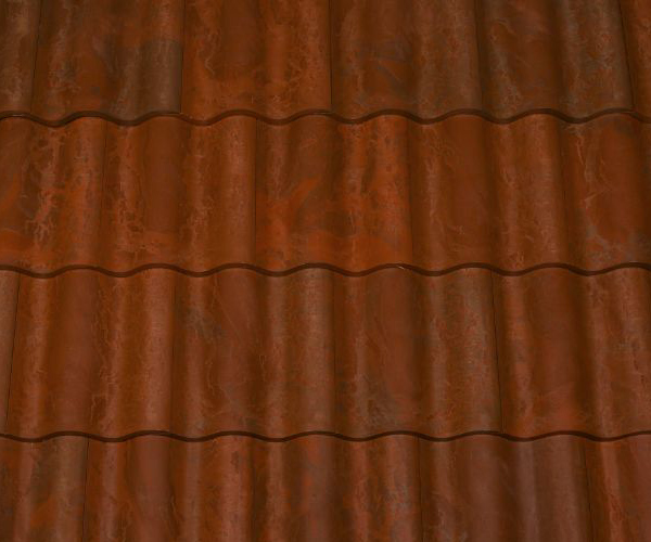 Bob Jahn's Offering Residential Roofing Material: Brava Composite - Spanish Barrel Vault Tile in Terra Cotta Brown