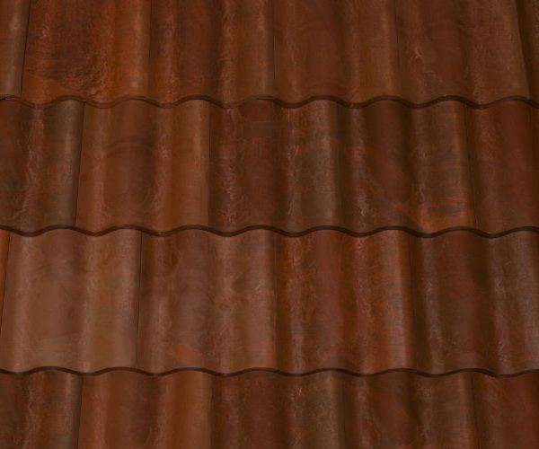 Bob Jahn's Offering Residential Roofing Material: Brava Composite - Spanish Barrel Vault Tile in Terra Cotta Dark Brown