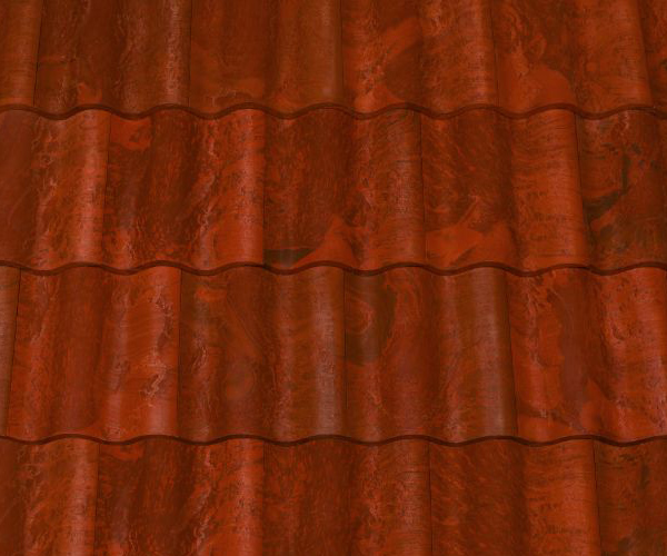 Bob Jahn's Offering Residential Roofing Material: Brava Composite - Spanish Barrel Vault Tile in Tuscan Clay